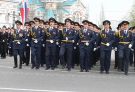 В параде Победы приняла участие сводная коробка сотрудников регионального УФСИН