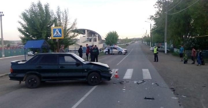 В Башкирии автоледи за рулем «ВАЗа» сбила мотоциклиста