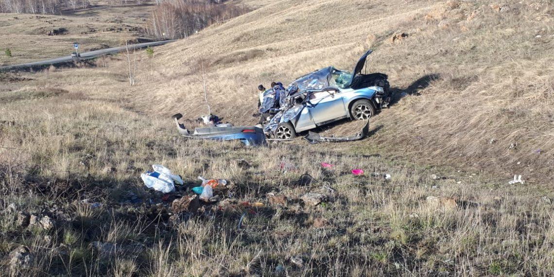 В Башкирии в ДТП с иномаркой пострадали четверо, из них двое детей