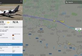 В Омске инкогнито зашел на посадку частный борт рейсом из Екатеринбурга