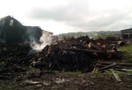 В Омской области после страшного пожара осталась без всего семья с детьми