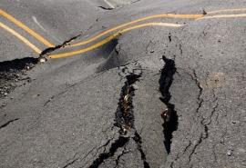 В Омской области «вспучилась» дорога