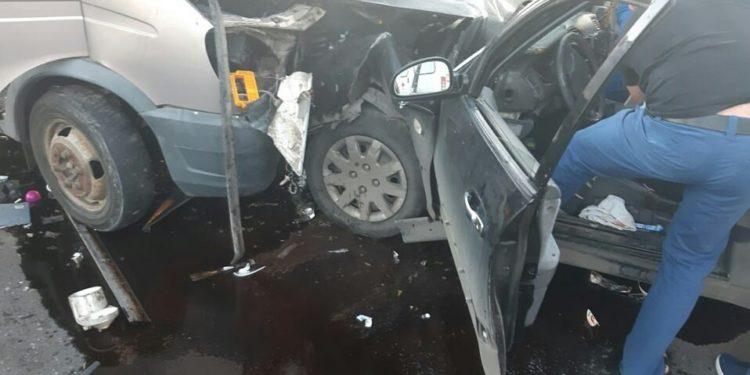В Уфе на мосту произошло жуткое тройное ДТП, есть погибший