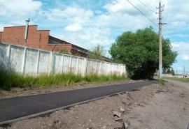 В Омске появился бесполезный тротуар
