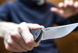 На омичку с маленьким ребенком на прогулке набросился мужчина с ножом
