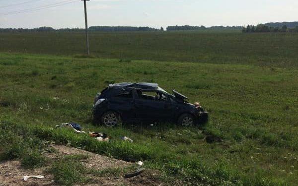 В Башкирии «Opel Corsa» улетел с дороги вместе с водителем