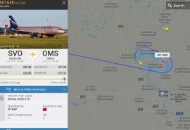 В небе над Омском кружат и не могут сесть авиалайнеры