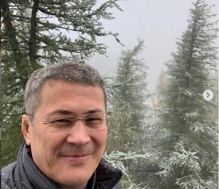 Радий Хабиров выложил фото выпавшего снега в Башкирии