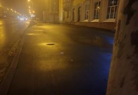 В Омске создали тротуар с выемкой под лужи