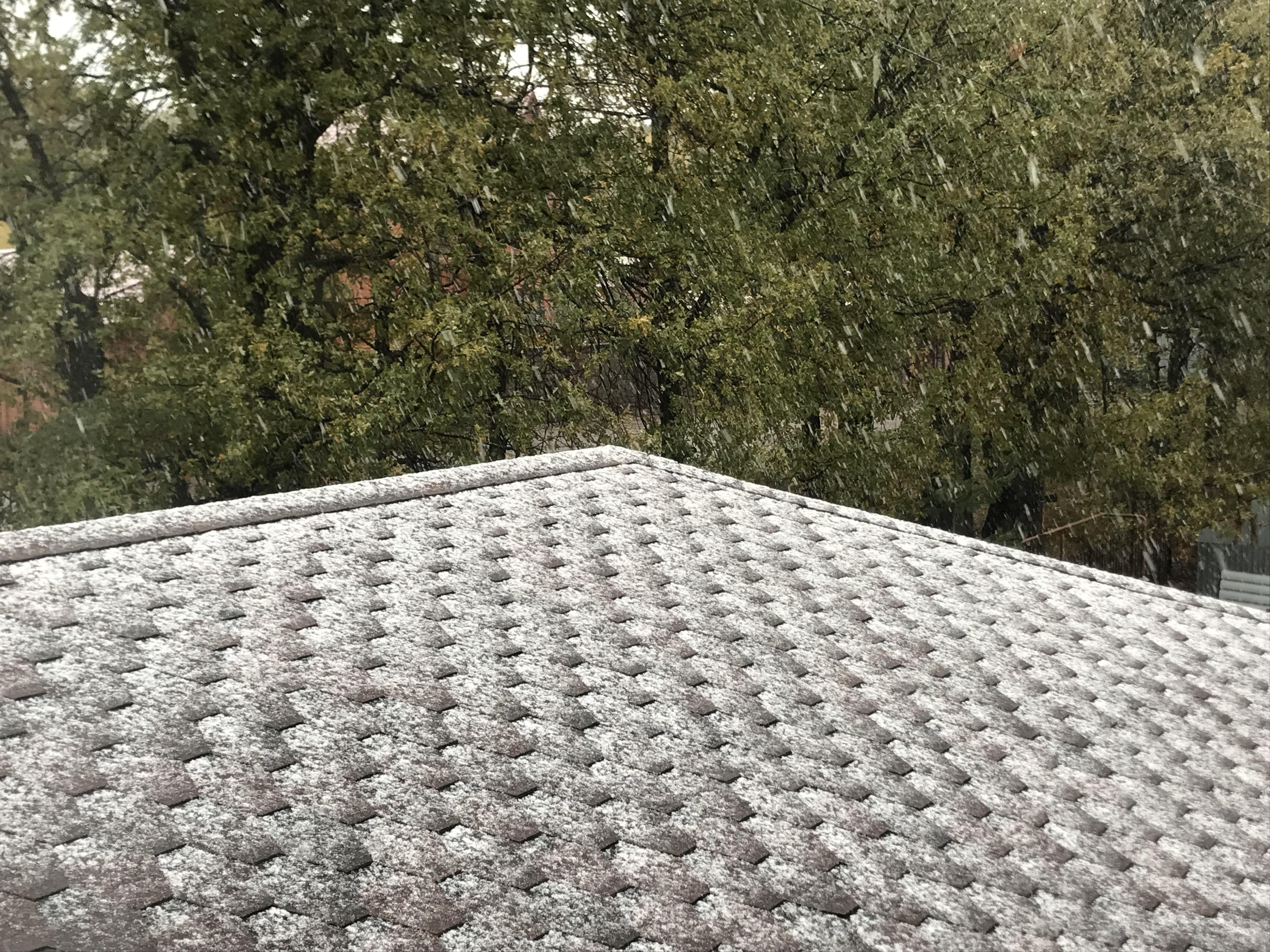 В Уфе выпал первый снег (фото, видео)
