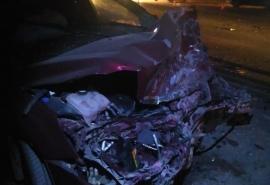 На Красноярском тракте в Омске расхлестались две легковушки – погиб водитель