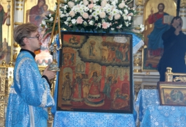 Православные омичи встретили икону «Покров Пресвятой Богородицы»