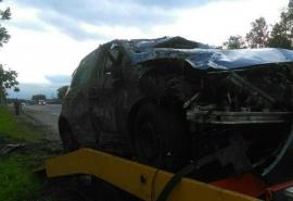 Под Омском водитель разбился насмерть, перевернувшись среди ночи на трассе