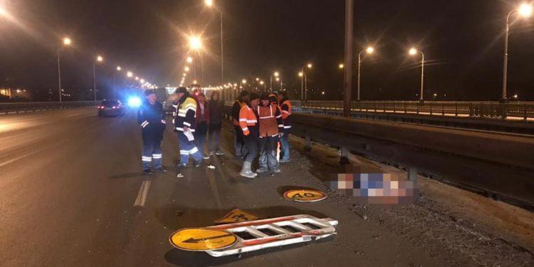В Уфе водитель насмерть сбил дорожного рабочего на мосту