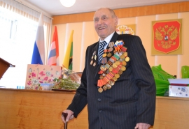 Ветеран Великой Отечественной войны Леонид Коржук отметил 95-летний юбилей