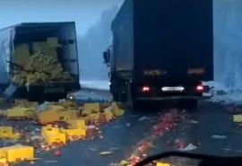 Появились подробности жуткой смертельной аварии двух фур на трассе Омск-Тюмень