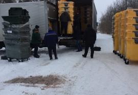Омский район закупил для поселений более 200 мусорных контейнеров
