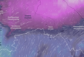 К Омску подобрался гигантский антициклон с морозом до -37 градусов