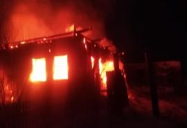 В Омской области при пожаре в новогоднюю ночь погиб мужчина