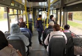 В Омской области загорелся пассажирский автобус