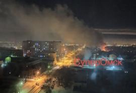 В Омске полыхает дом коммуниста