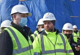 Губернатор Новосибирской области дал старт работ по надвижке пролетных конструкций четвертого моста ...