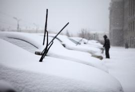 На Омск движется огромный циклон со снегом и туманом