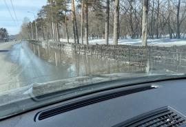 Ключевая улица Омска превращается в озеро